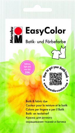 MARABU Easy Color világos rózsaszín batikoló- és kézi textilfesték 25 g - 236
