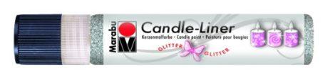 MARABU Candle-liner csillámos ezüst gyertyadíszítő toll 25 ml - 582