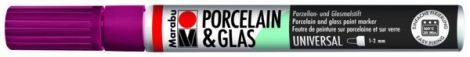 MARABU Porcelain & Glas bordó porcelánfilc / üvegfilc - 034