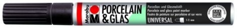 MARABU Porcelain & Glas fekete porcelánfilc / üvegfilc - 073