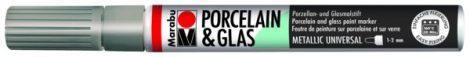 MARABU Porcelain & Glas ezüst porcelánfilc / üvegfilc - 082