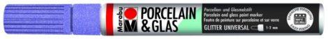 MARABU Porcelain & Glas csillámos levendula porcelánfilc / üvegfilc - 507