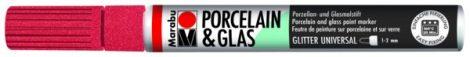 MARABU Porcelain & Glas csillámos piros porcelánfilc / üvegfilc - 532