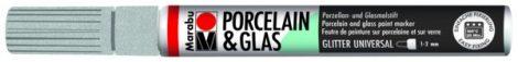 MARABU Porcelain & Glas csillámos ezüst porcelánfilc / üvegfilc - 582