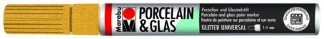 MARABU Porcelain & Glas csillámos arany porcelánfilc / üvegfilc - 584
