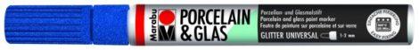 MARABU Porcelain & Glas csillámos zafírkék porcelánfilc / üvegfilc - 594