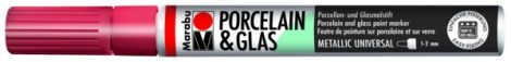 MARABU Porcelain & Glas metál piros porcelánfilc / üvegfilc - 732