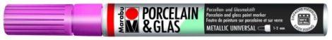 MARABU Porcelain & Glas metál rózsaszín porcelánfilc / üvegfilc - 733