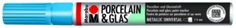 MARABU Porcelain & Glas metál kék porcelánfilc / üvegfilc - 752