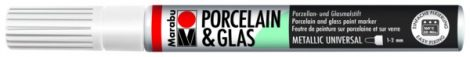 MARABU Porcelain & Glas metál fehér porcelánfilc / üvegfilc - 770