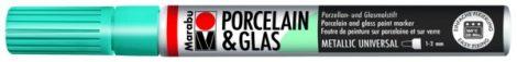 MARABU Porcelain & Glas metál petrol porcelánfilc / üvegfilc - 792