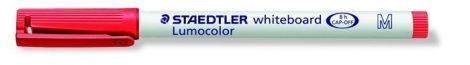 STAEDTLER Lumocolor 301 M piros táblamarker, 1 mm, kúpos