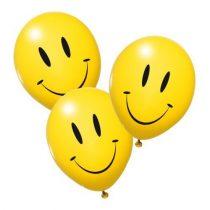 SUZYCARD Sunny héliummal tölthető smiley-s lufik 10 db/csomag