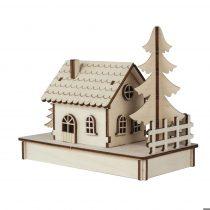 RAYHER Fa építőkészlet házikó 17,5x9,4x14 cm, 30-darabos
