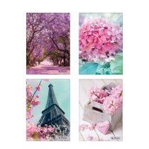 HERLITZ Romantic Spring Butikkönyv A/5 - négyzethálós
