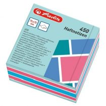 HERLITZ öntapadós jegyzettömb 75x75 mm, 450 lap Color Blocking