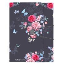 HERLITZ Ladylike Flowers gumis mappa A/4