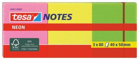 TESA Notes Neon irodai jelölőcímke