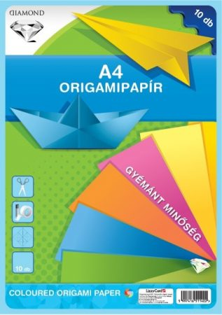 LIZZYCARD Origami hajtogató lapok A/4 - 10 db