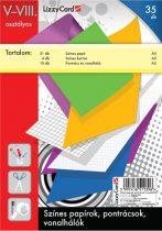 LIZZYCARD Színes papírok, pontrácsok 5-8. osztály