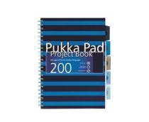 PUKKA PAD Navy project book vonalas spirálfüzet A/4