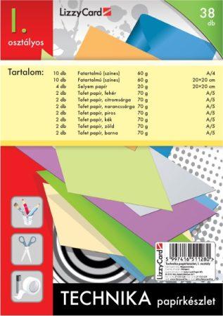 LIZZYCARD Technika papírkészlet 1. osztály