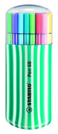 STABILO pen 68 Zebrui 20 db-os filctoll készlet