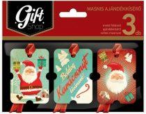 LIZZYCARD KMA02 Karácsonyi ajándékkísérő 3 db-os