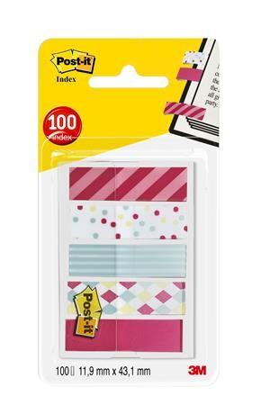 3M POST-IT Candy műanyag jelölőcímke 5x20 lap, 12x43 mm