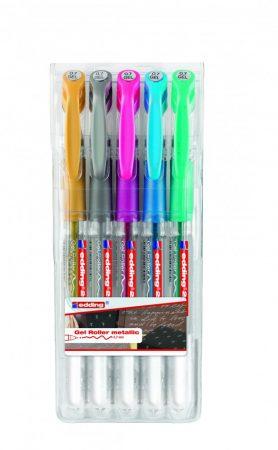 EDDING 2185 5 db-os zselés toll készlet - metál színek