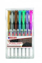EDDING 2185 7 db-os zselés toll készlet - metál színek