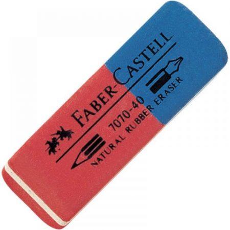 FABER-CASTELL kaucsuk radír - piros-kék