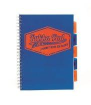 PUKKA PAD Neon Projekt Book kék A/4-es, vonalas spirálfüzet 100 lap