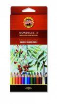 KOH-I-NOOR 3716 Mondeluz 12 db-os színes aquarell ceruza készlet