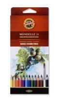 KOH-I-NOOR 3718 Mondeluz 24 db-os színes aquarell ceruza készlet