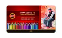 KOH-I-NOOR 3727 Mondeluz 72 db-os színes aquarell ceruza készlet fémdobozban