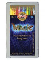 KOH-I-NOOR 8772 Progresso Magic színes ceruza készlet 12 szín