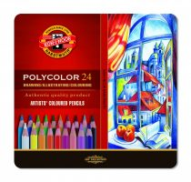 KOH-I-NOOR 3824 Polycolor 24 db-os színes ceruza készlet - fémdobozban