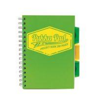 PUKKA PAD Neon zöld project book vonalas spirálfüzet A/5