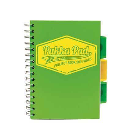 PUKKA PAD Neon project book négyzethálós spirálfüzet A/5