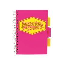 PUKKA PAD Neon rózsaszín project book vonalas spirálfüzet A/5