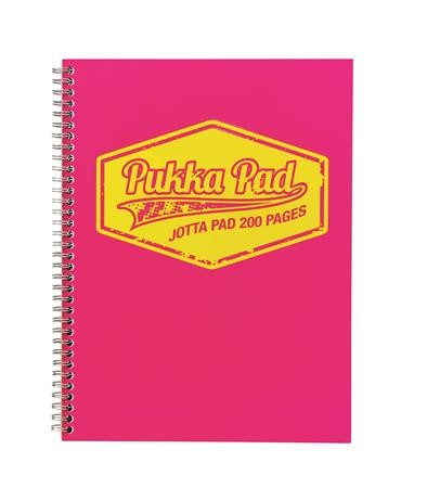 PUKKA PAD Neon rózsaszín vonalas spirálfüzet A/5