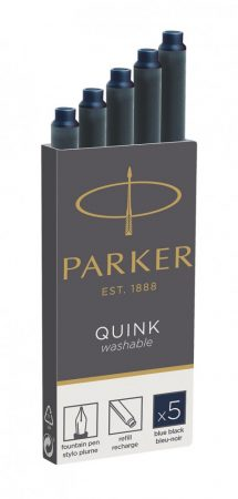 PARKER Royal 5 db-os tintapatron 1950385 - kékes fekete (blue black)