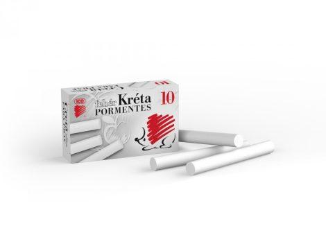 ICO Süni pormentes, kerek, fehér táblakréta - 10 db-os készletben