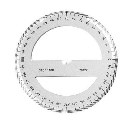 KOH-I-NOOR átlátszó szögmérő 360 fokos