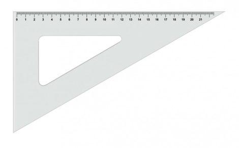 KOH-I-NOOR átlátszó háromszög vonalzó / 60 fokos