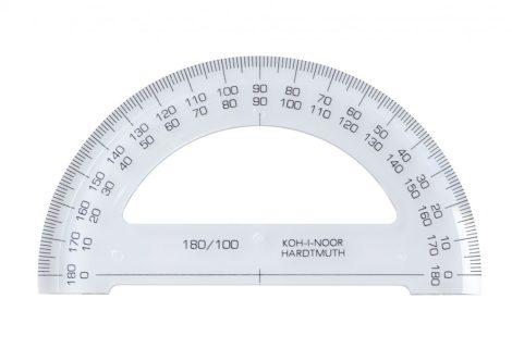 KOH-I-NOOR átlátszó szögmérő 180 fokos