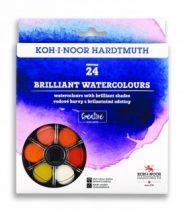 KOH-I-NOOR 174507 Brillant aquarell vízfesték (anilin vízfesték) 24 db-os készlet