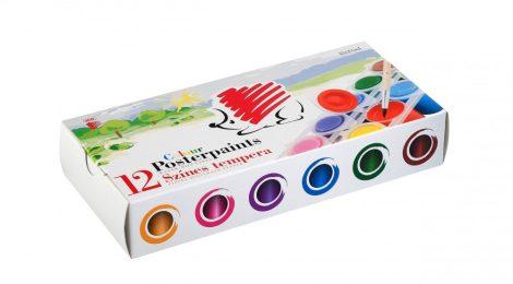 ICO Süni tempera tégelyes - 12 különböző szín 25 ml-es tégelyekben