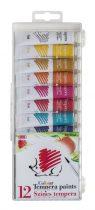 ICO Süni tempera 12 különböző szín 12 ml-es tubusos
